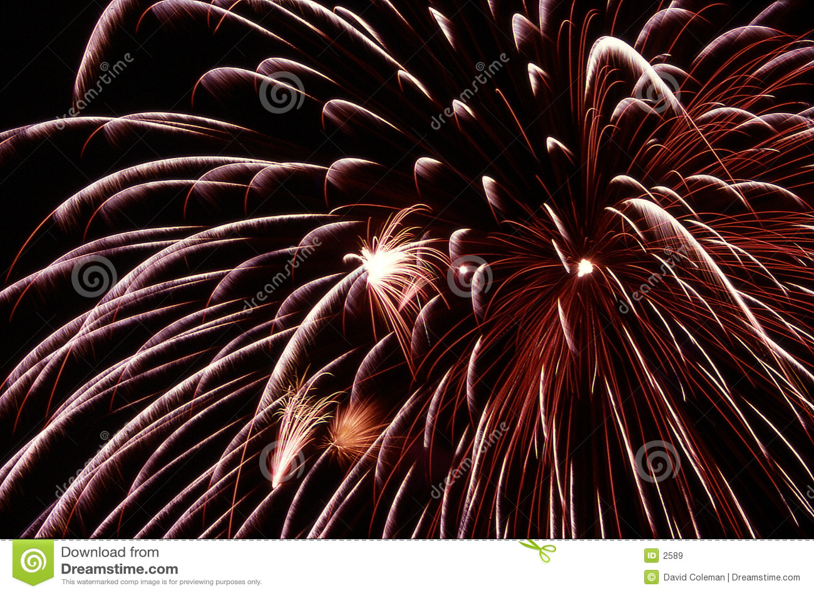 Burst fireworks