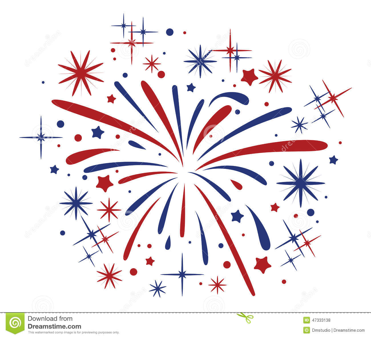 bursting fireworks  vector stock vector image of illustration 47333138 july 4th clipart free animated july 4th clipart free animated
