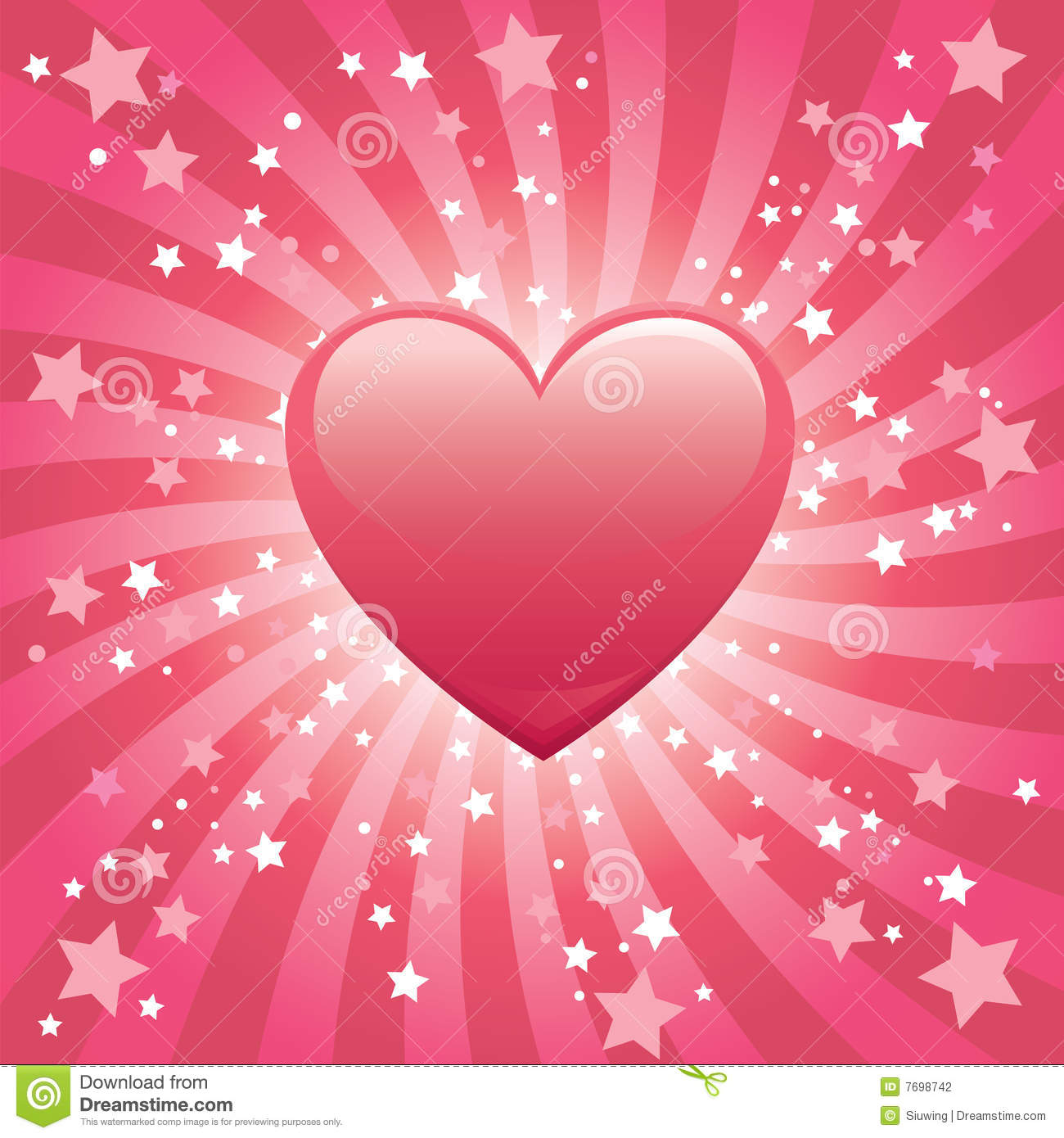Bursting Heart Background Stock Photography Image 7698742