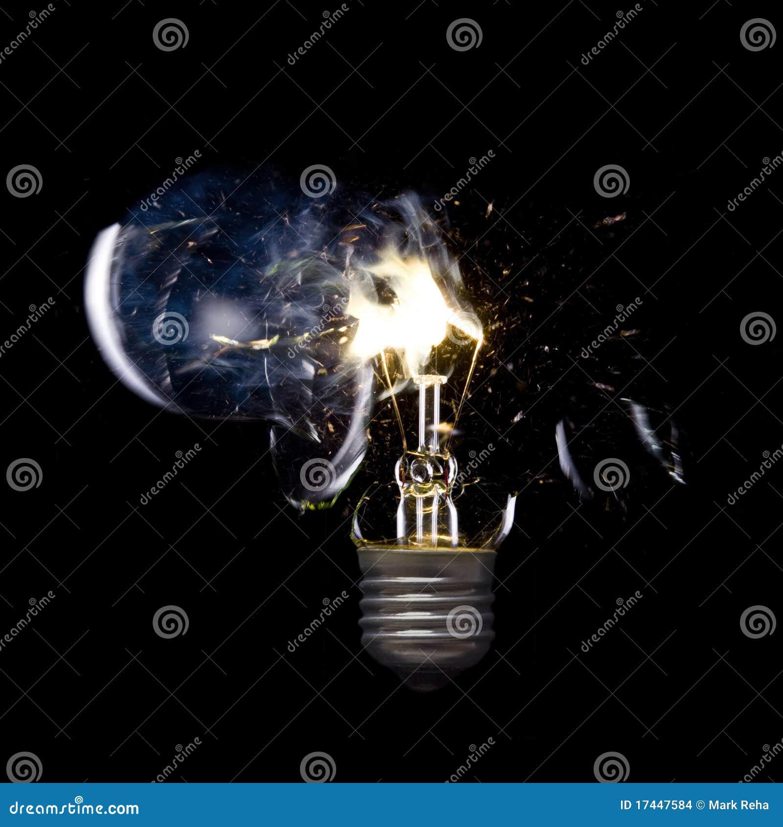 Bursting Light Bulb Stock Photo Image Of Electrical