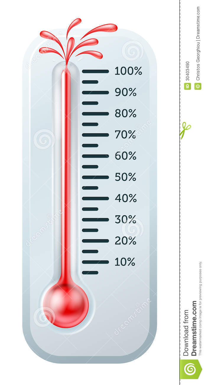 Bursting Thermometer Stock Photo