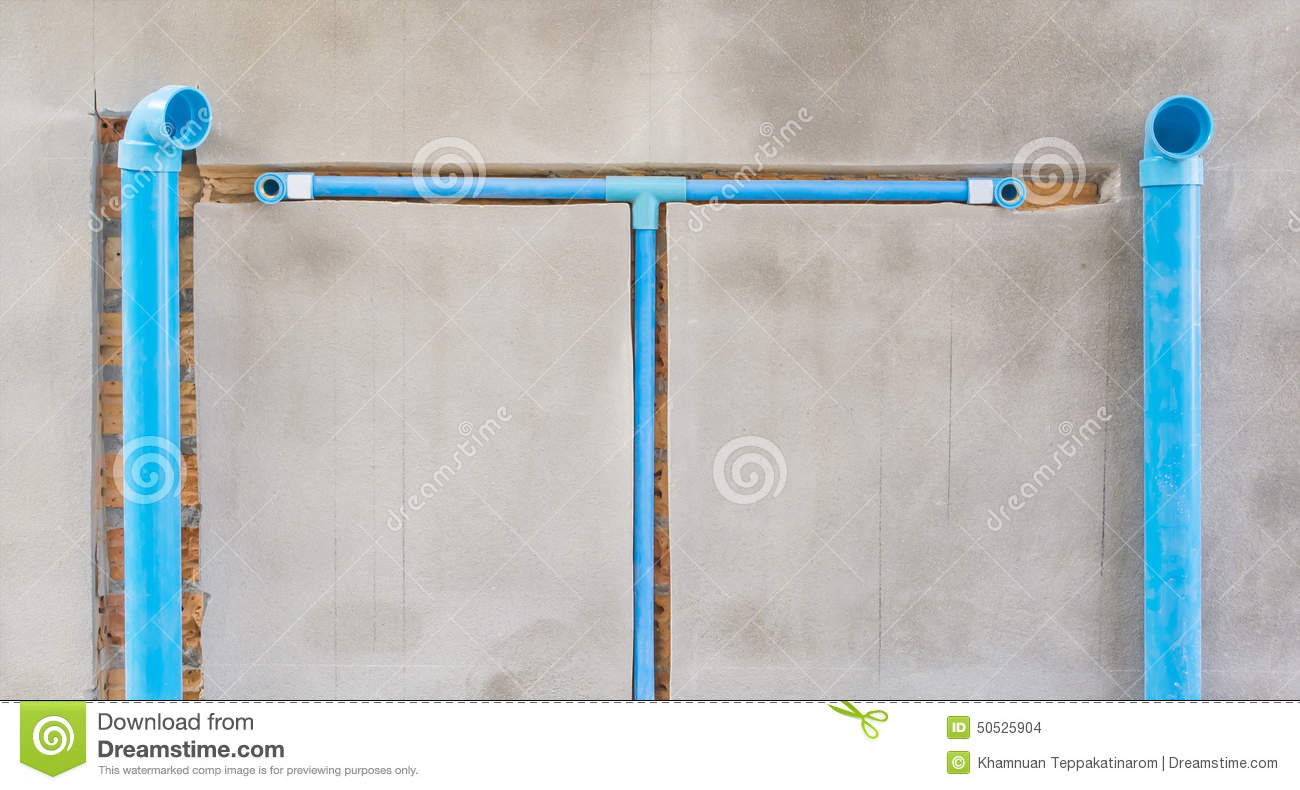 Bury a pvc pipe in the wall