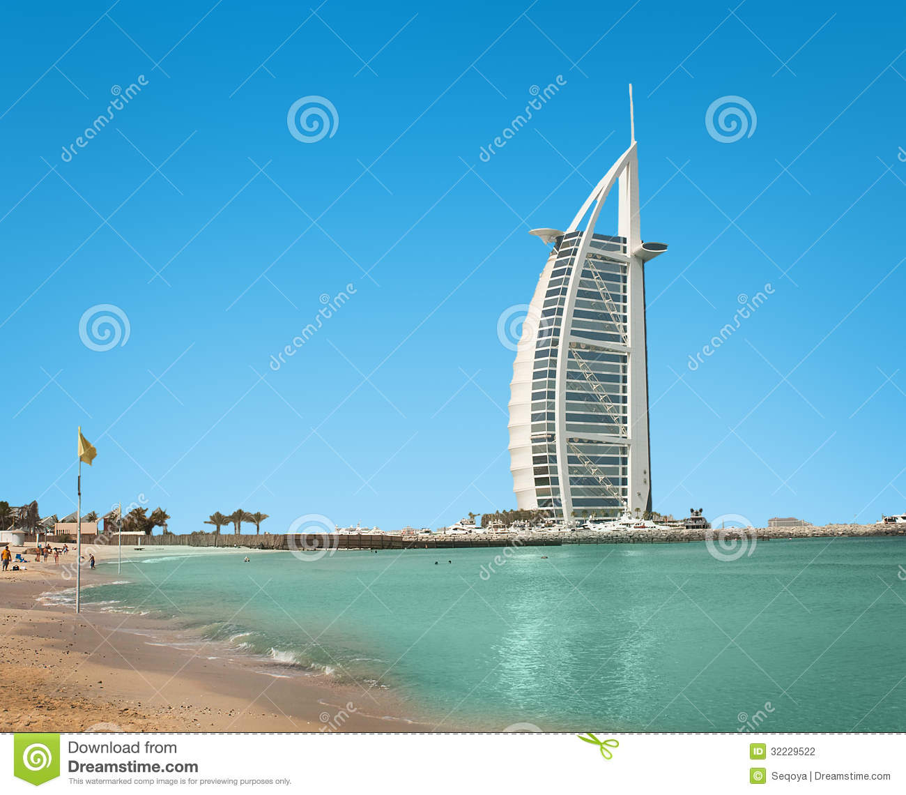 Burzh al arab is well known hotel editorial photography for The sail hotel dubai