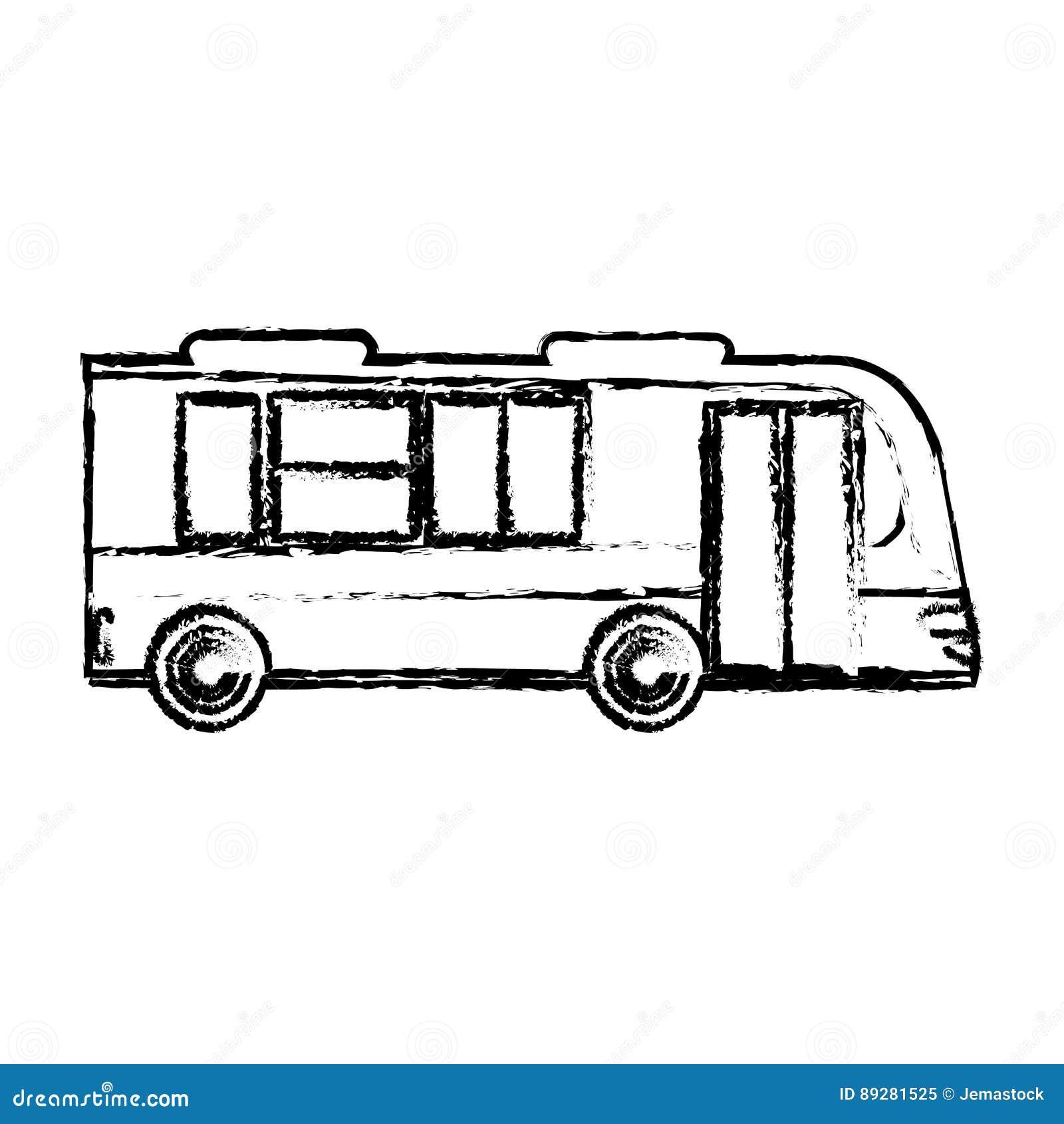 Bus Business Transport Vehicle Sketch Stock Illustration Illustration Of Goods Auto 89281525