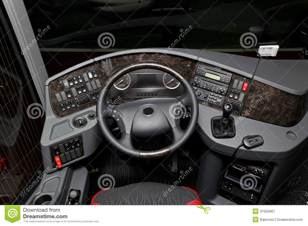 bus cockpit royalty  stock photography image