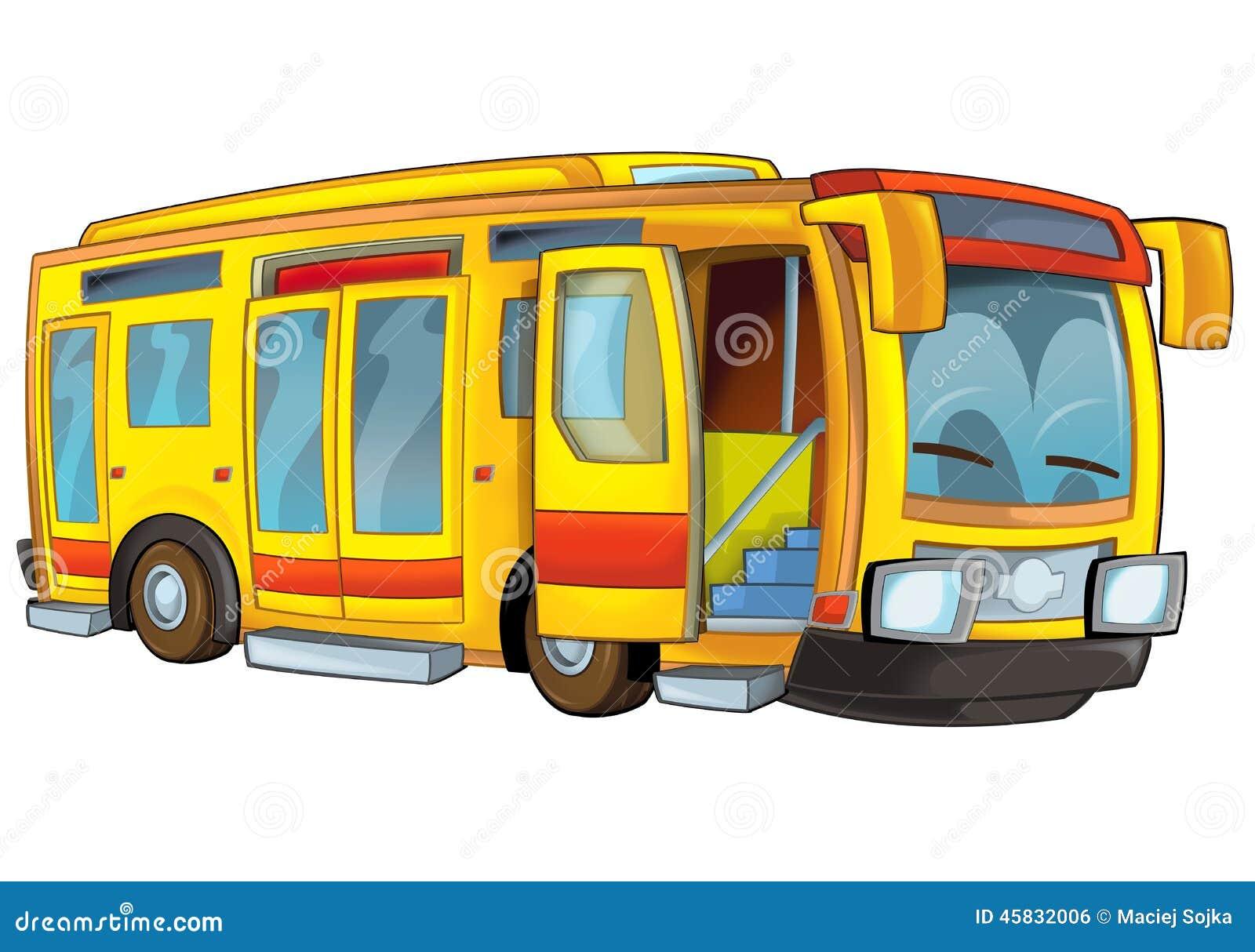 Bus de dessin anim illustration stock illustration du - Autocar dessin ...