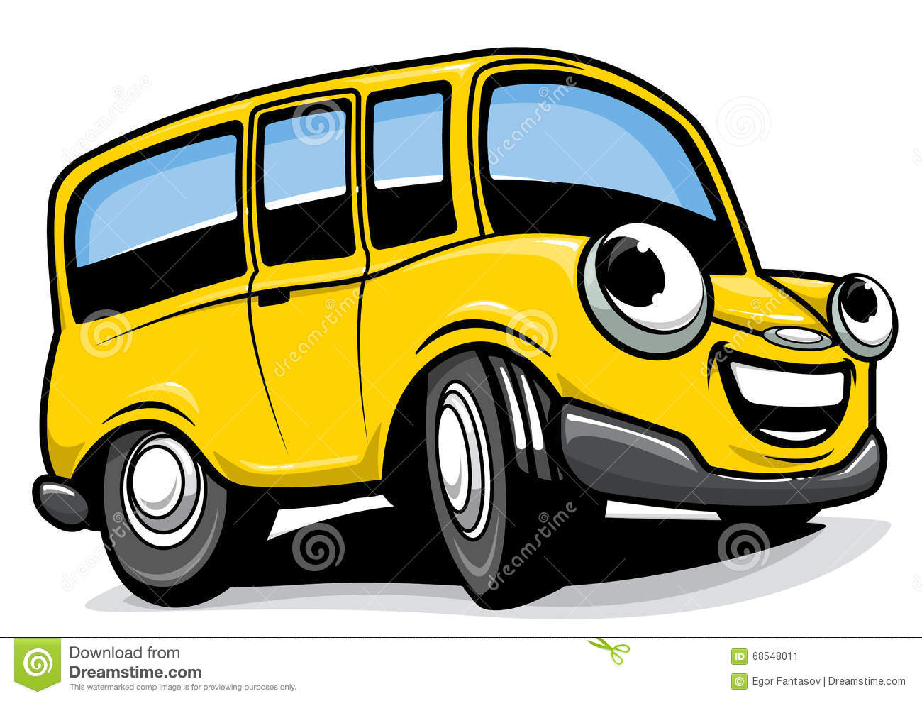 Bus de dessin anim illustration de vecteur image 68548011 - Dessin de transport ...