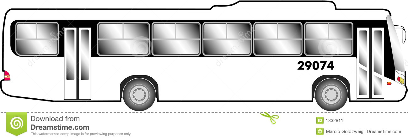 Line Drawing Bus : Bus line art stock illustration of glass