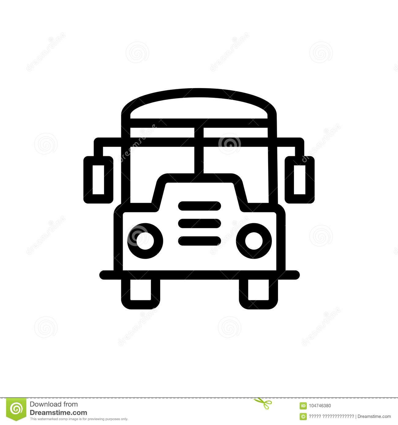 Bus Flat Icon Stock Vector Illustration Of Stop Arrival 104746380
