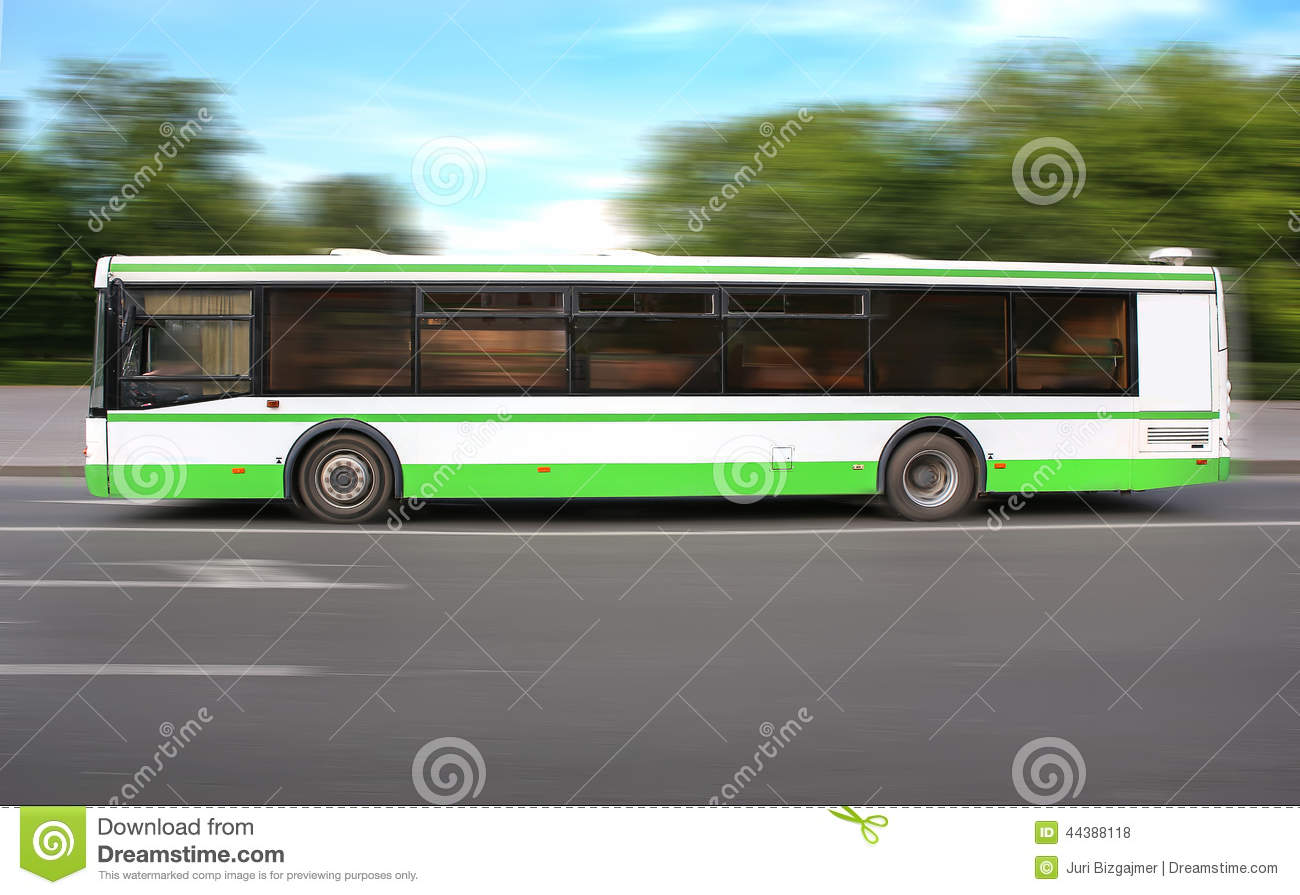 Bus moves on the way