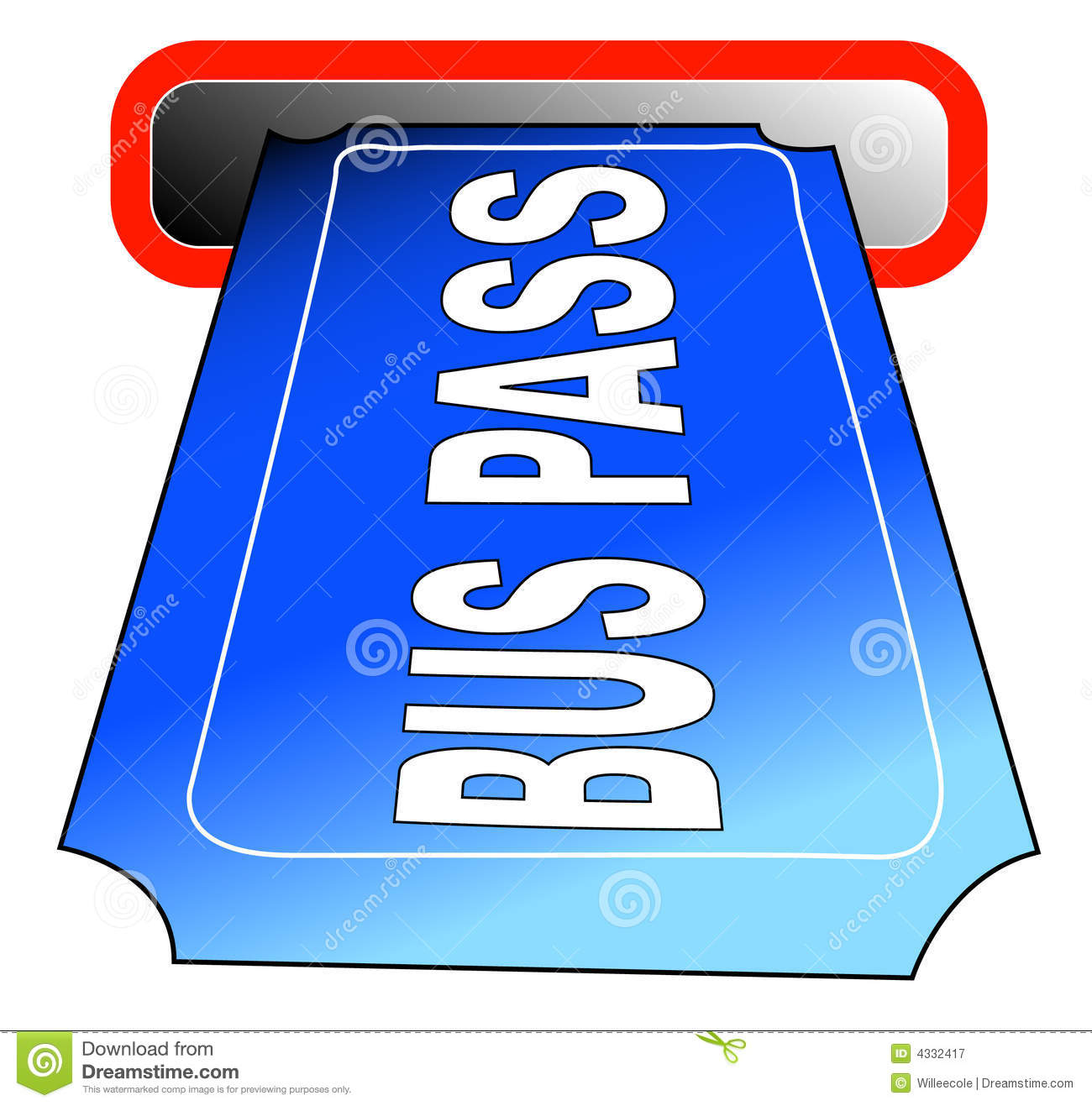 Bus Pass Royalty Free Stock Photography - Image: 4332417