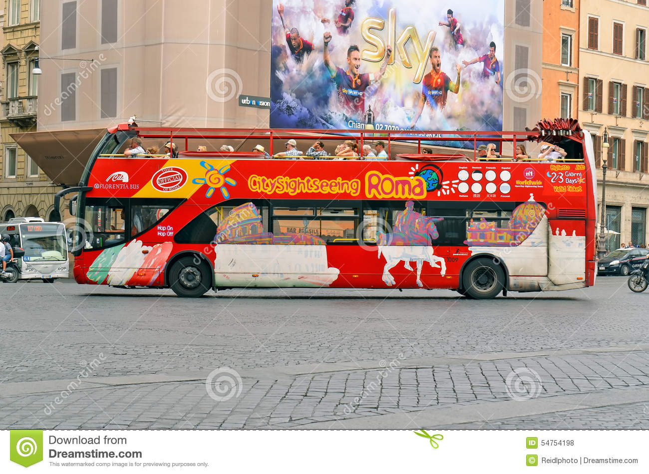 Bus ROMS, ITALIEN Citysightseeing Rom