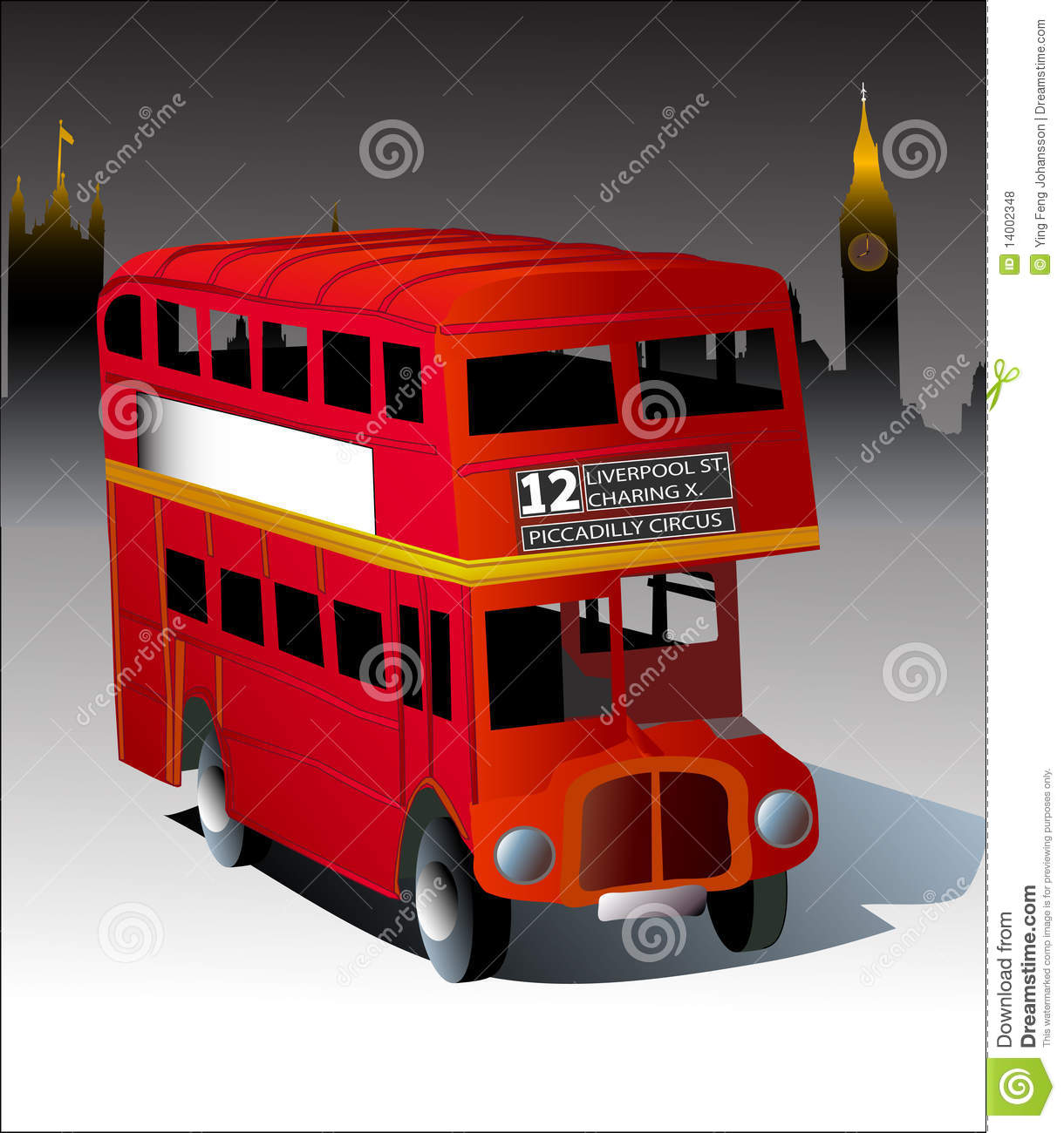 bus rouge de londres illustration de vecteur illustration du britain 14002348. Black Bedroom Furniture Sets. Home Design Ideas