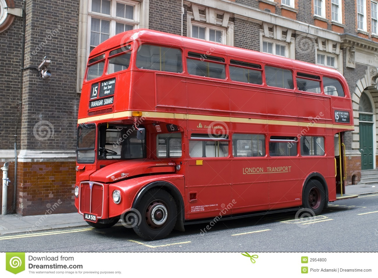 bus rouge de londres photo stock image du explosion panne 2954800. Black Bedroom Furniture Sets. Home Design Ideas
