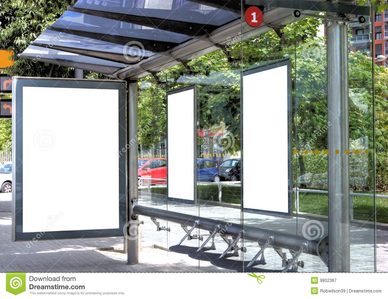 Assez Bus Stop With A Billboard Stock Photos - Image: 14280303 TN12