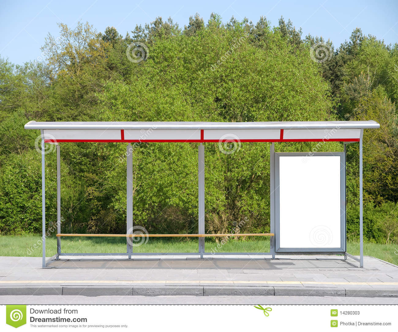 Bus Stop With A Billboard Stock Photos Image 14280303