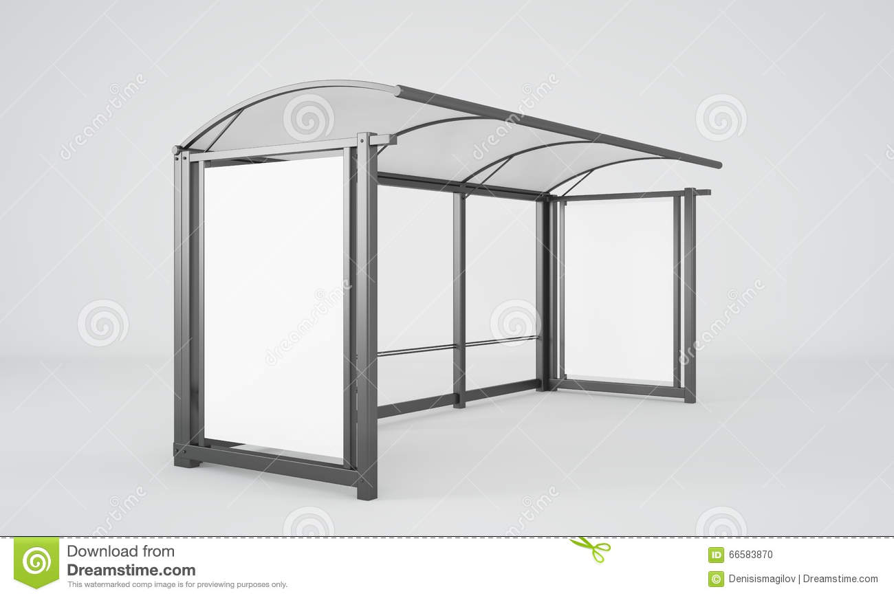 Bus Stop Stock Illustration Image Of Country Bench