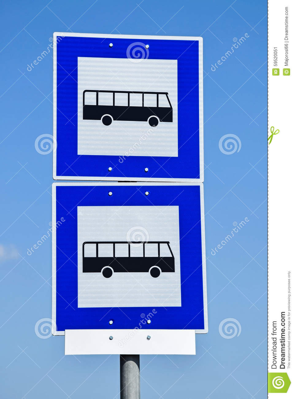 Bus stop traffic signs