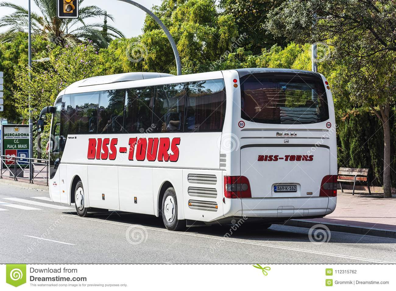 Bus Travel Companies BISS TOURS On The Streets Of The City Llor
