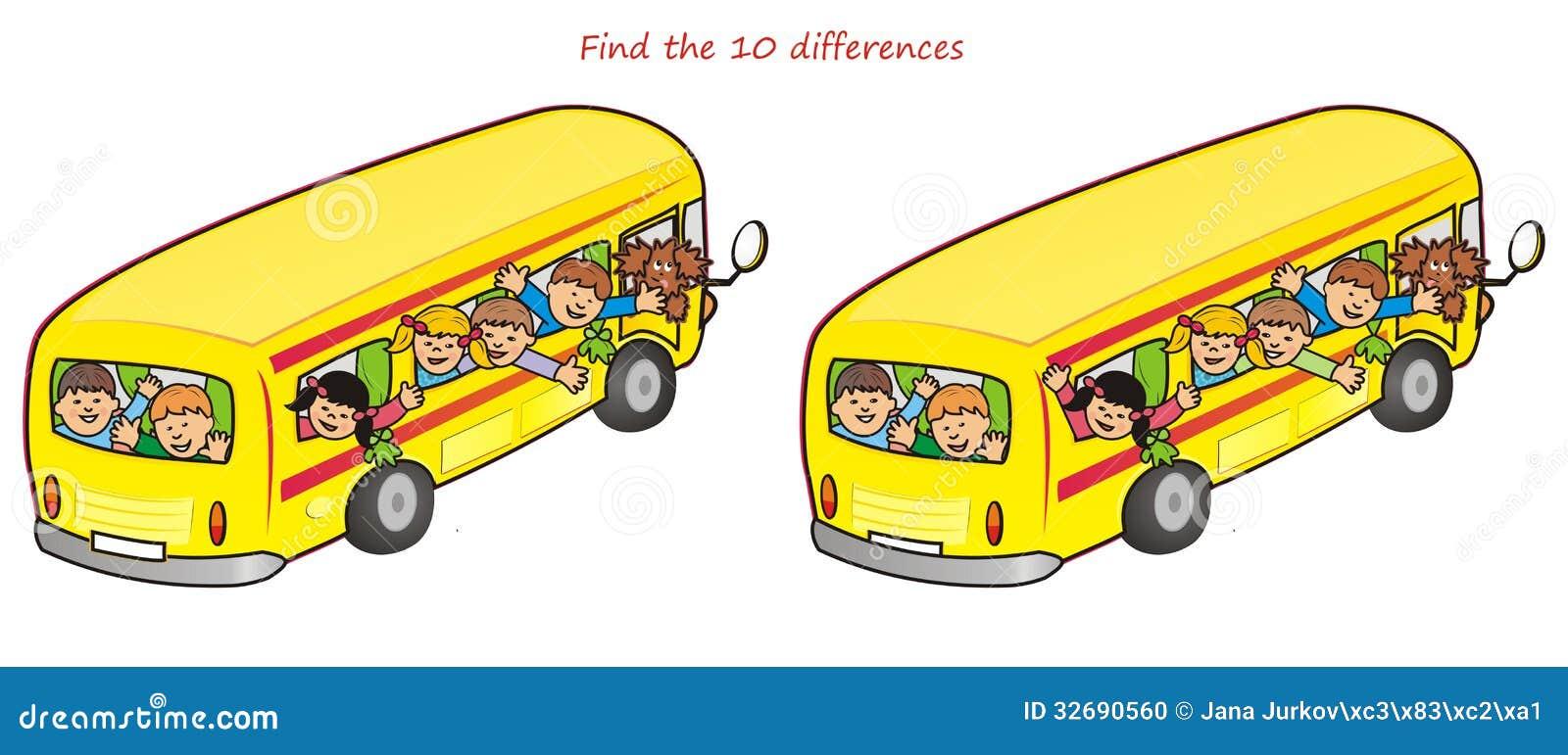 bus und unterschiede children 10 stockfoto bild 32690560. Black Bedroom Furniture Sets. Home Design Ideas