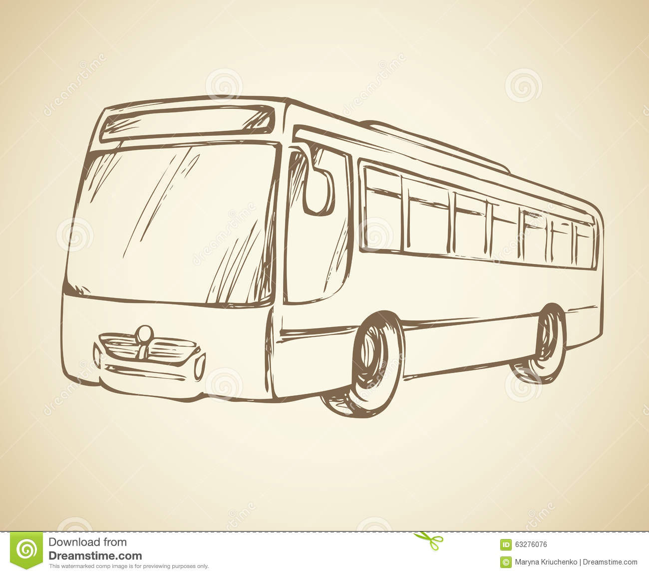 Bus vector drawing stock vector illustration of illustration