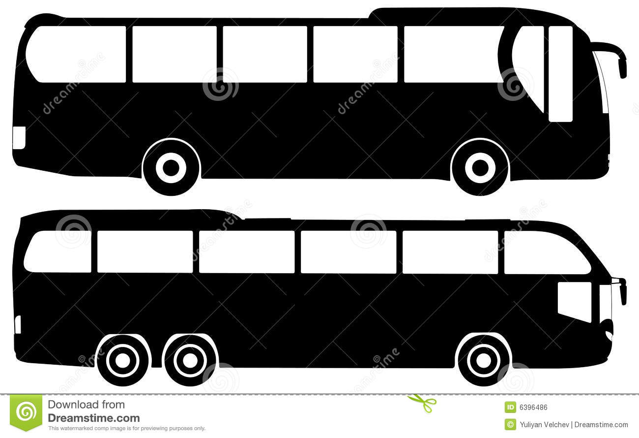 bus vector set stock vector  image of illustration
