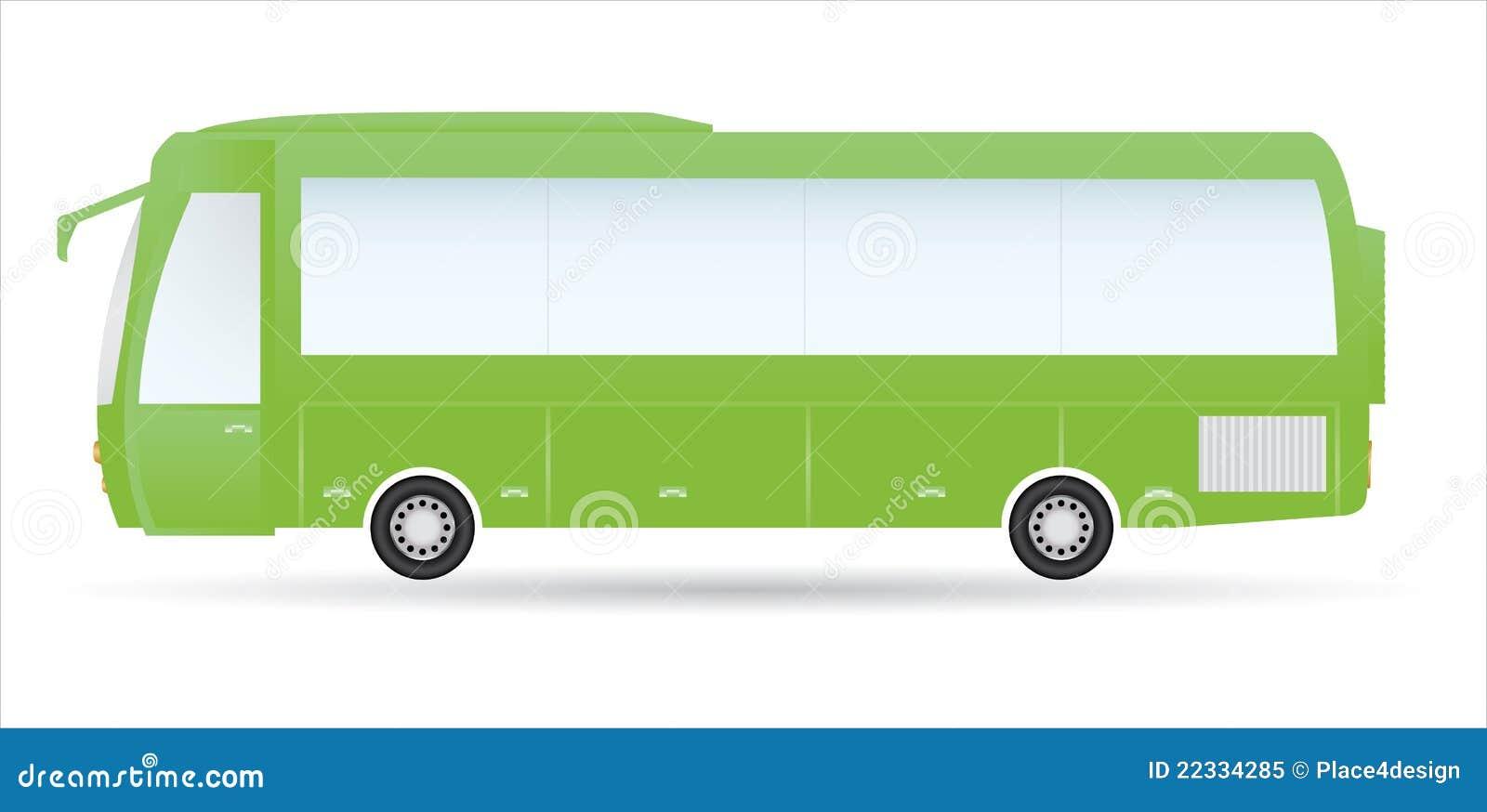 Bus vert de ville illustration de vecteur illustration du for Vert urbain maison de ville
