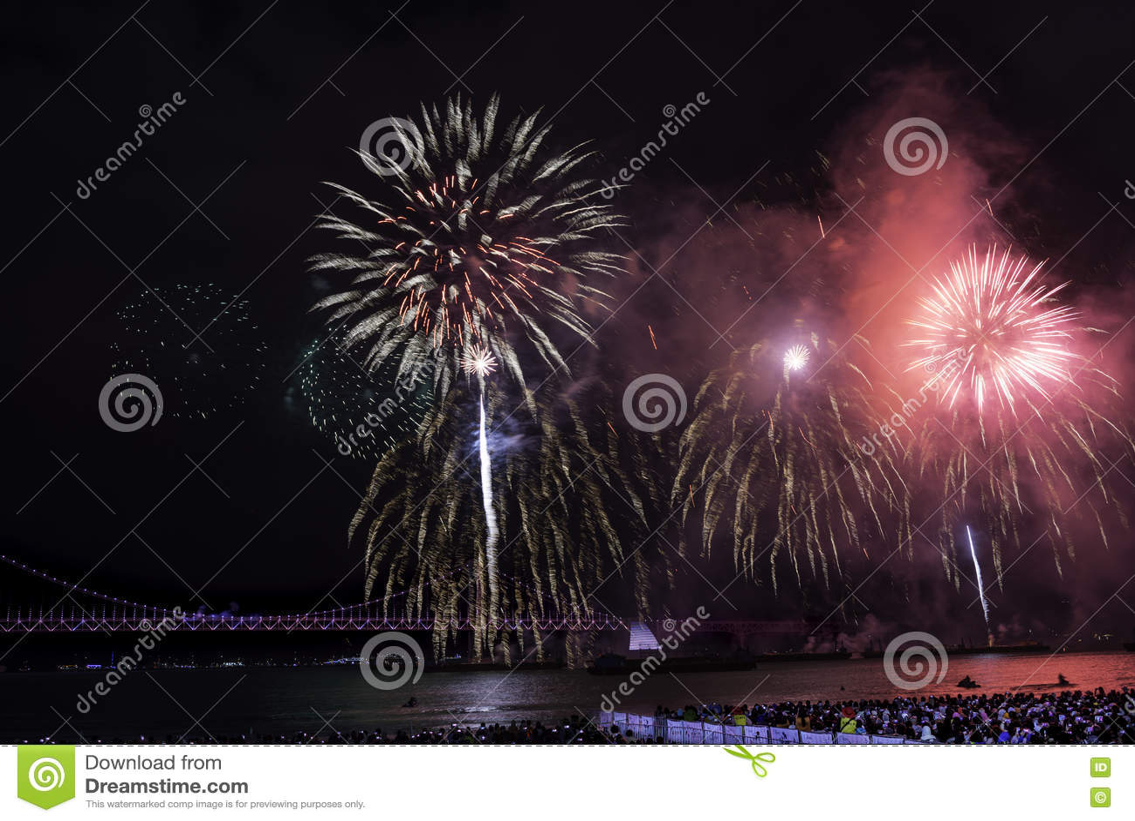 Busan fajerwerków festiwal 2016 - nocy pirotechnika