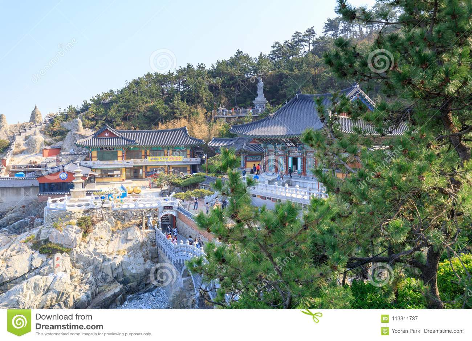 Haedong yonggungsa seaside temple in Busan