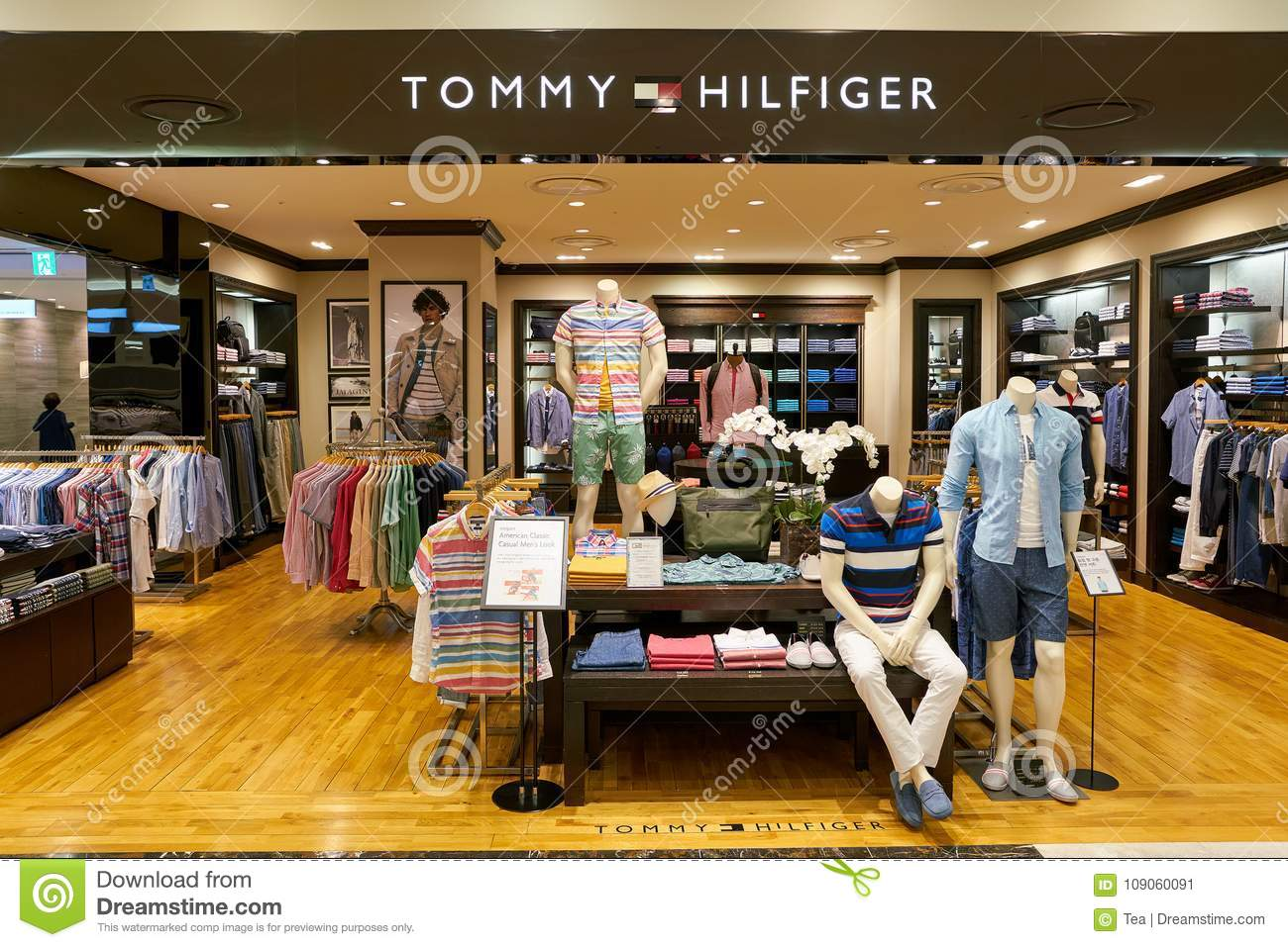 65cc98b7 BUSAN, SOUTH KOREA - MAY 28, 2017: Tommy Hilfiger store at Lotte Department  Store