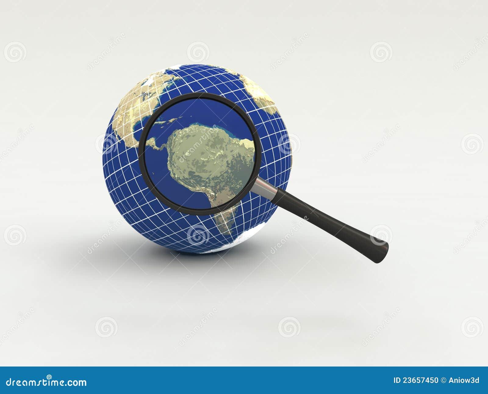 Busca e examinação da informação na terra