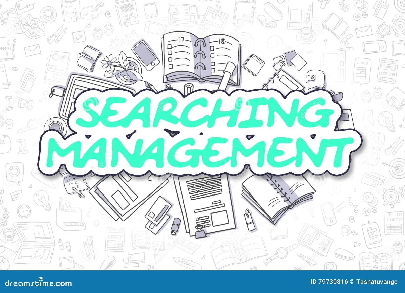 Buscando la gestión - texto verde de la historieta Concepto del asunto