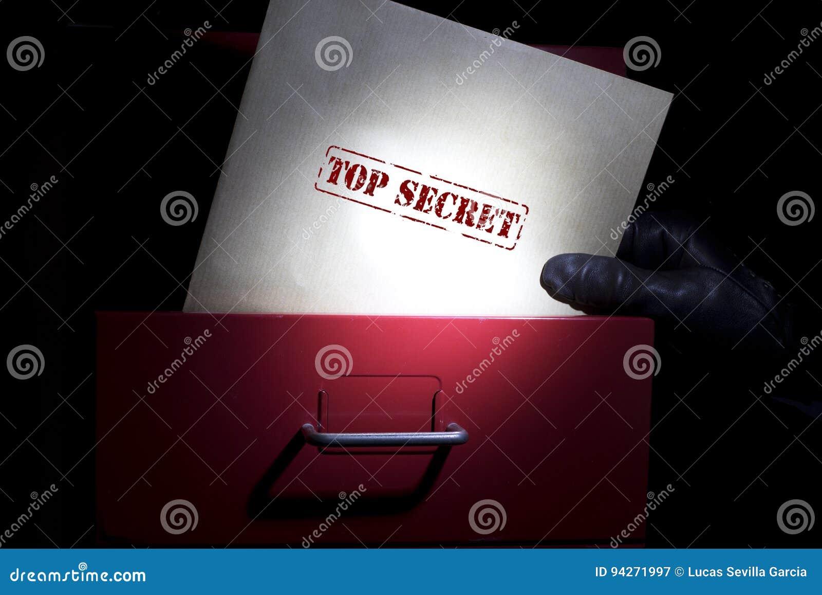 Buscar documentos de alto secreto en una oscuridad
