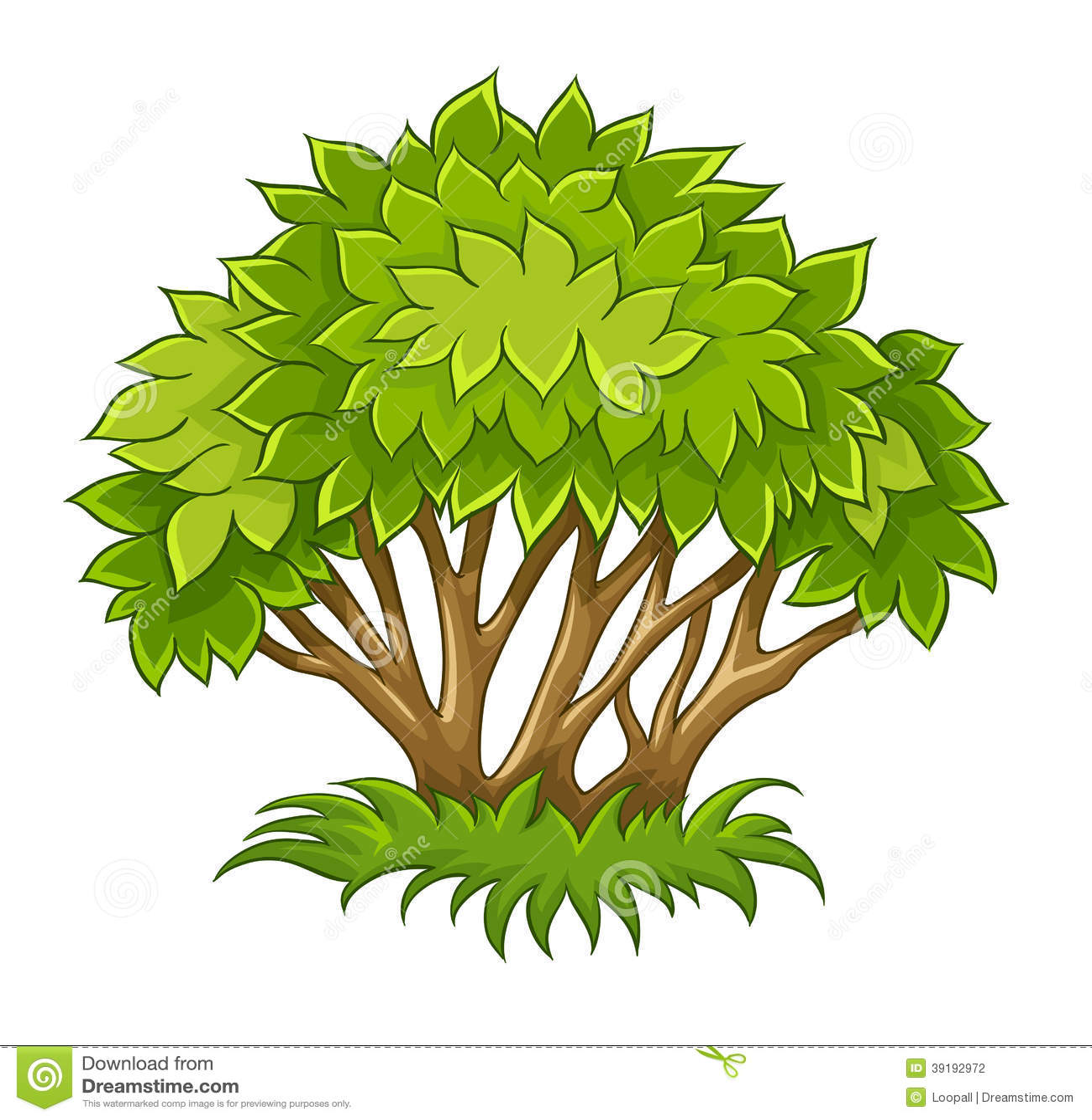 Рисунки зелёного куста