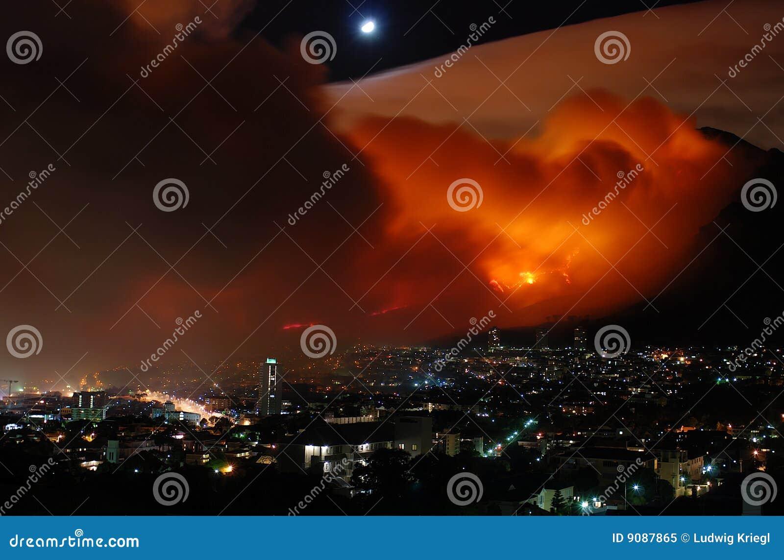 Bushfire Kapstadt März 2009