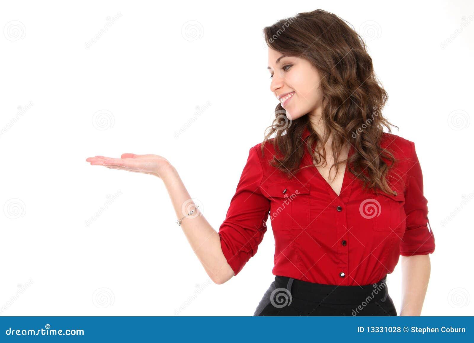 Busienss prezentaci kobieta