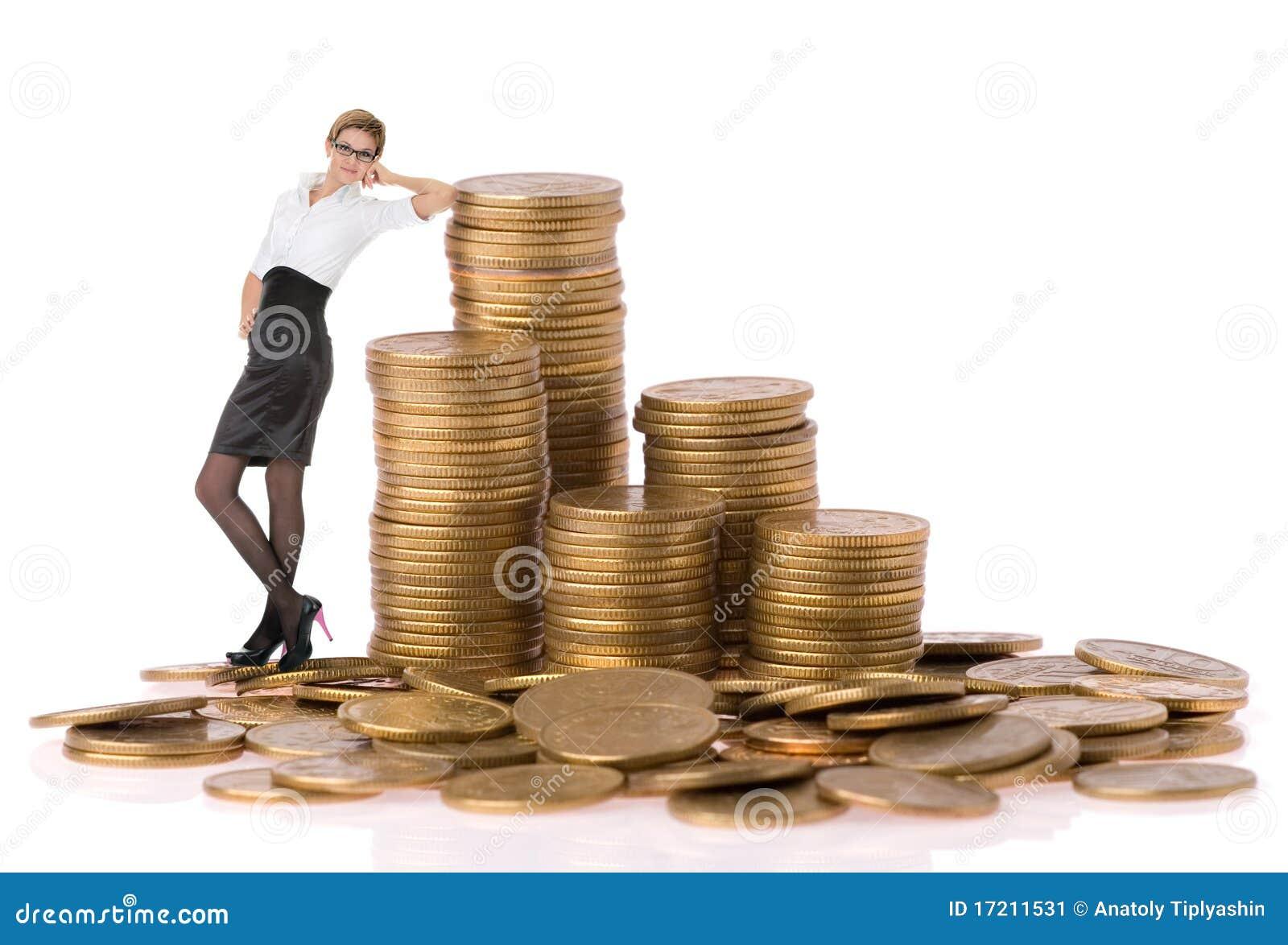 Busines monet kolumny kobieta