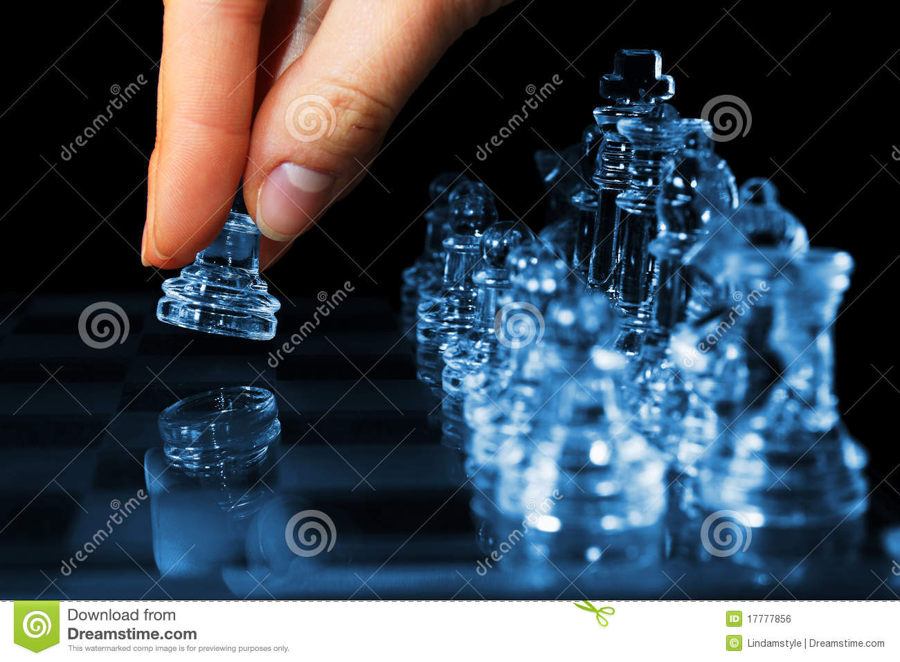 Strategy chess game woman fingers moving pawn