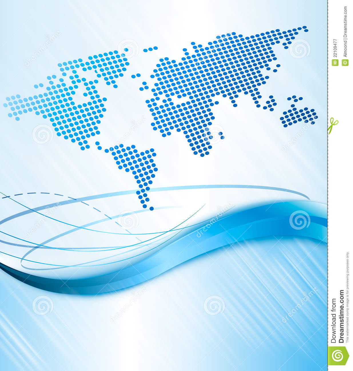 Desktop Wallpaper World Map: Business Abstract Background With World Map. Vect Royalty