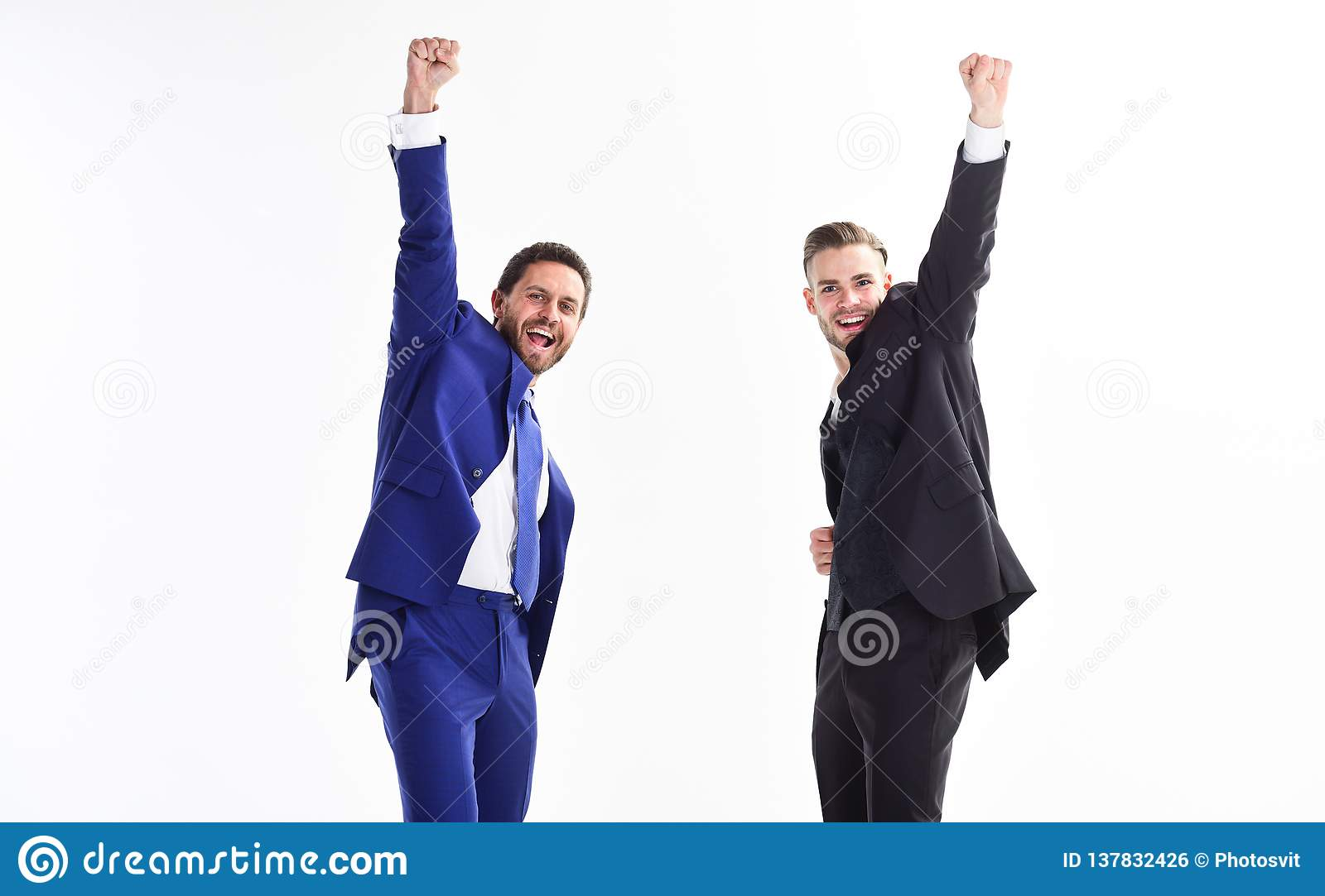 Business Achievement Concept Business Success Office Party Celebrate Successful Deal Men Happy Emotional Celebrate Stock Photo Image Of Professional Office 137832426