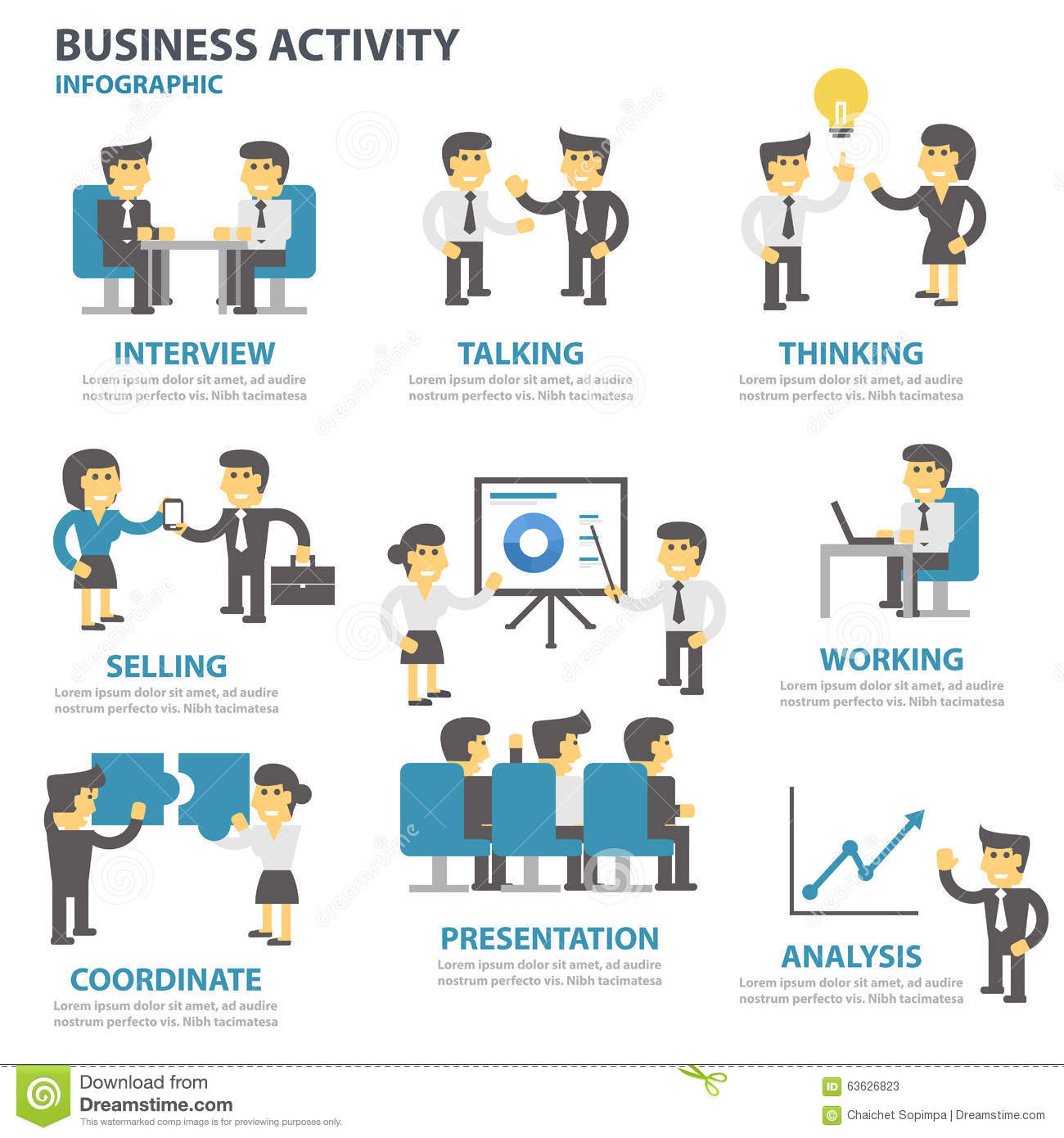 Business Activity Presentation Template Infographic