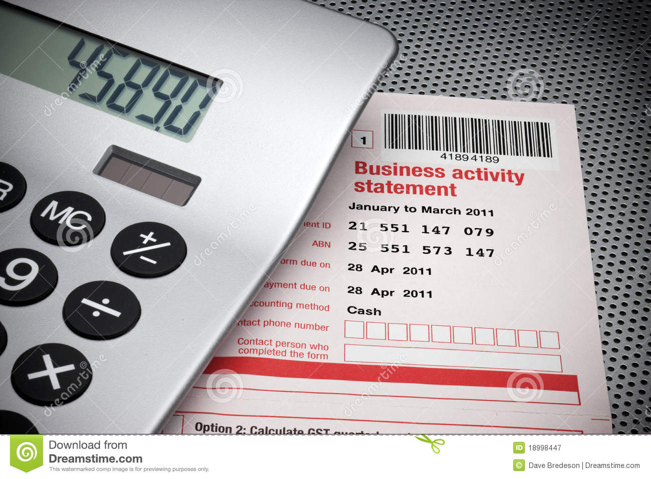 Business activity statement tax stock image image of quarterly an australian business activity tax statement form with a calculator wajeb