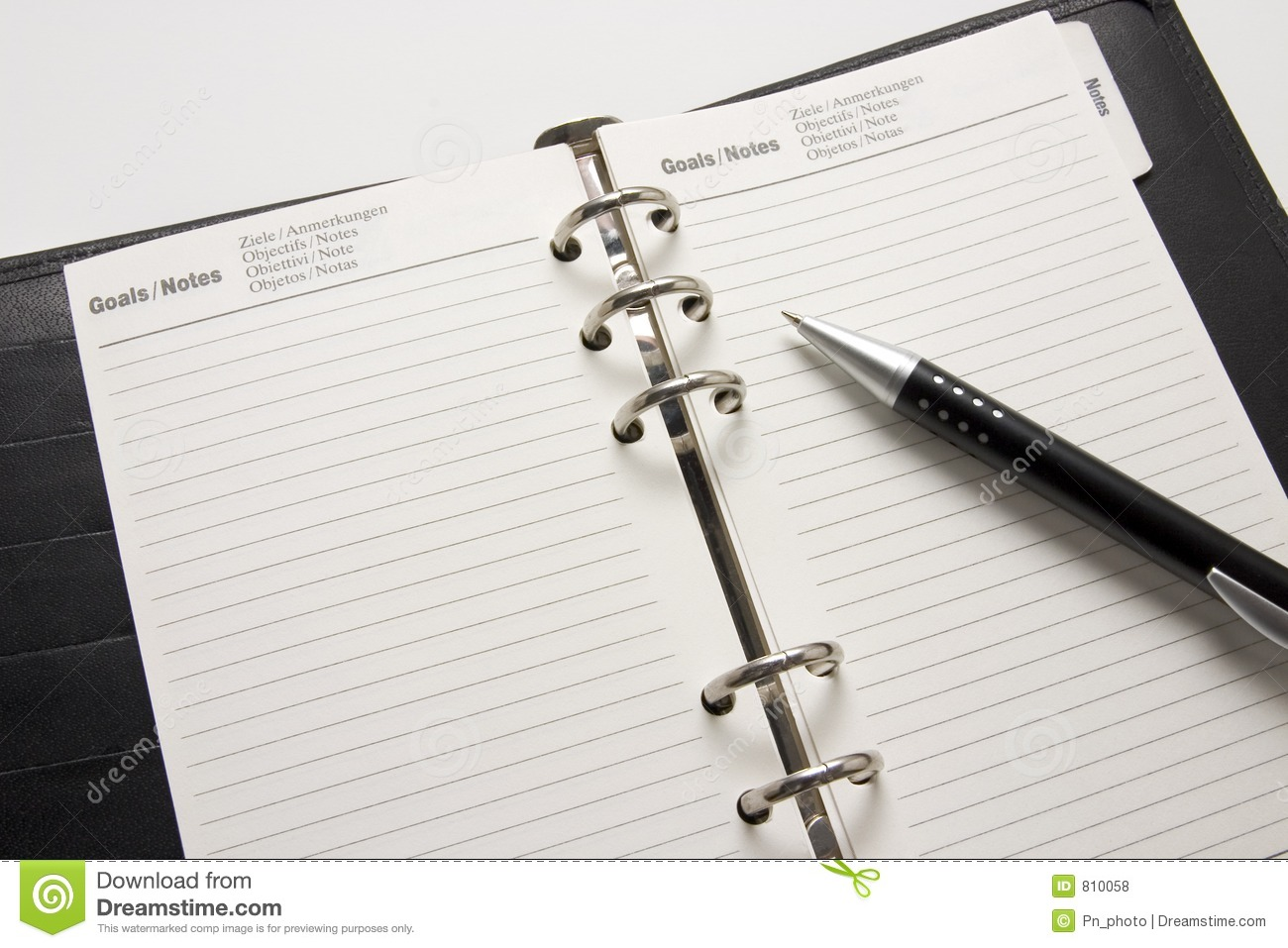 Business Agenda Goals Royalty Free Stock Photos - Image: 810058