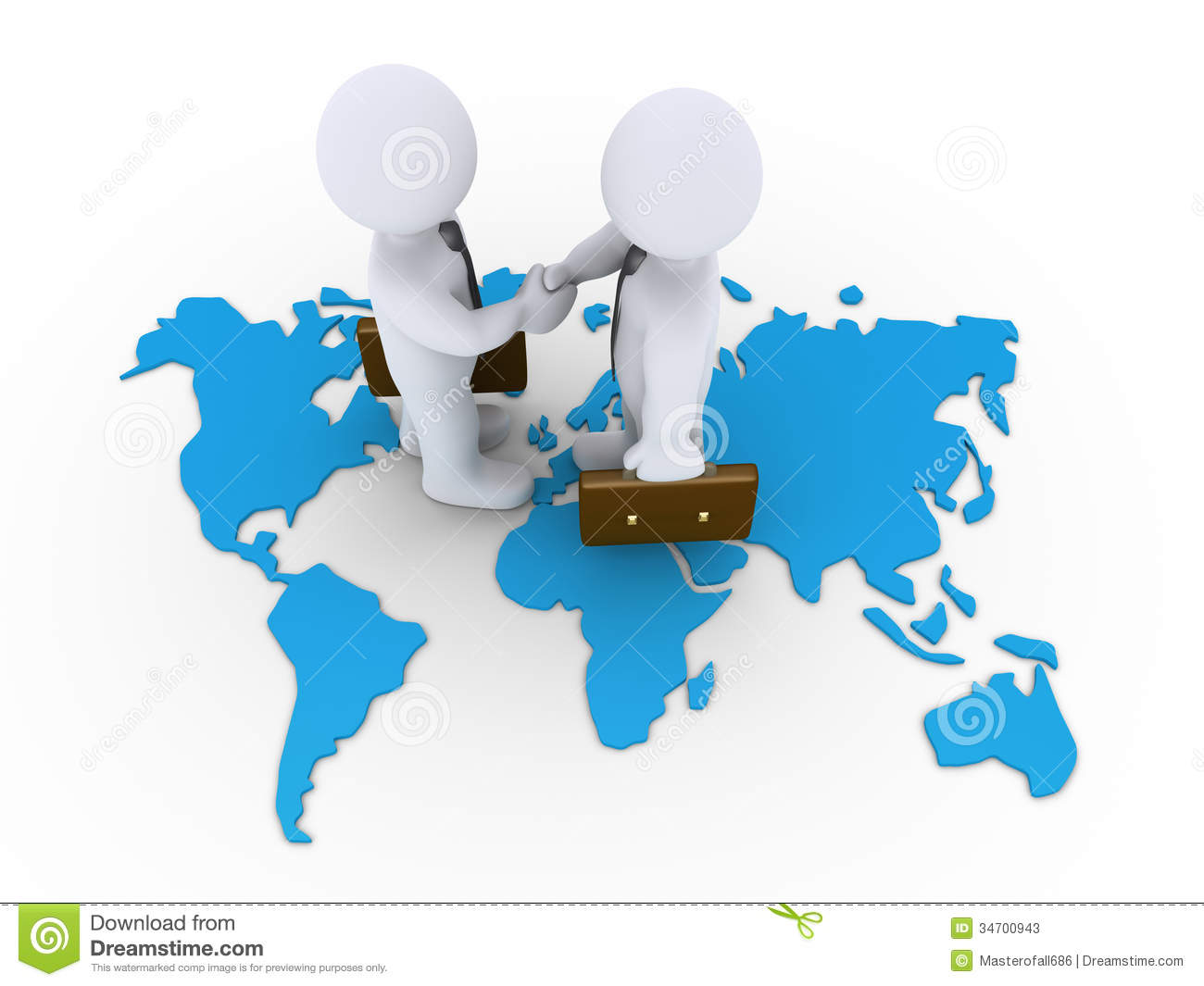 Business Agreement A World Map Stock Illustration