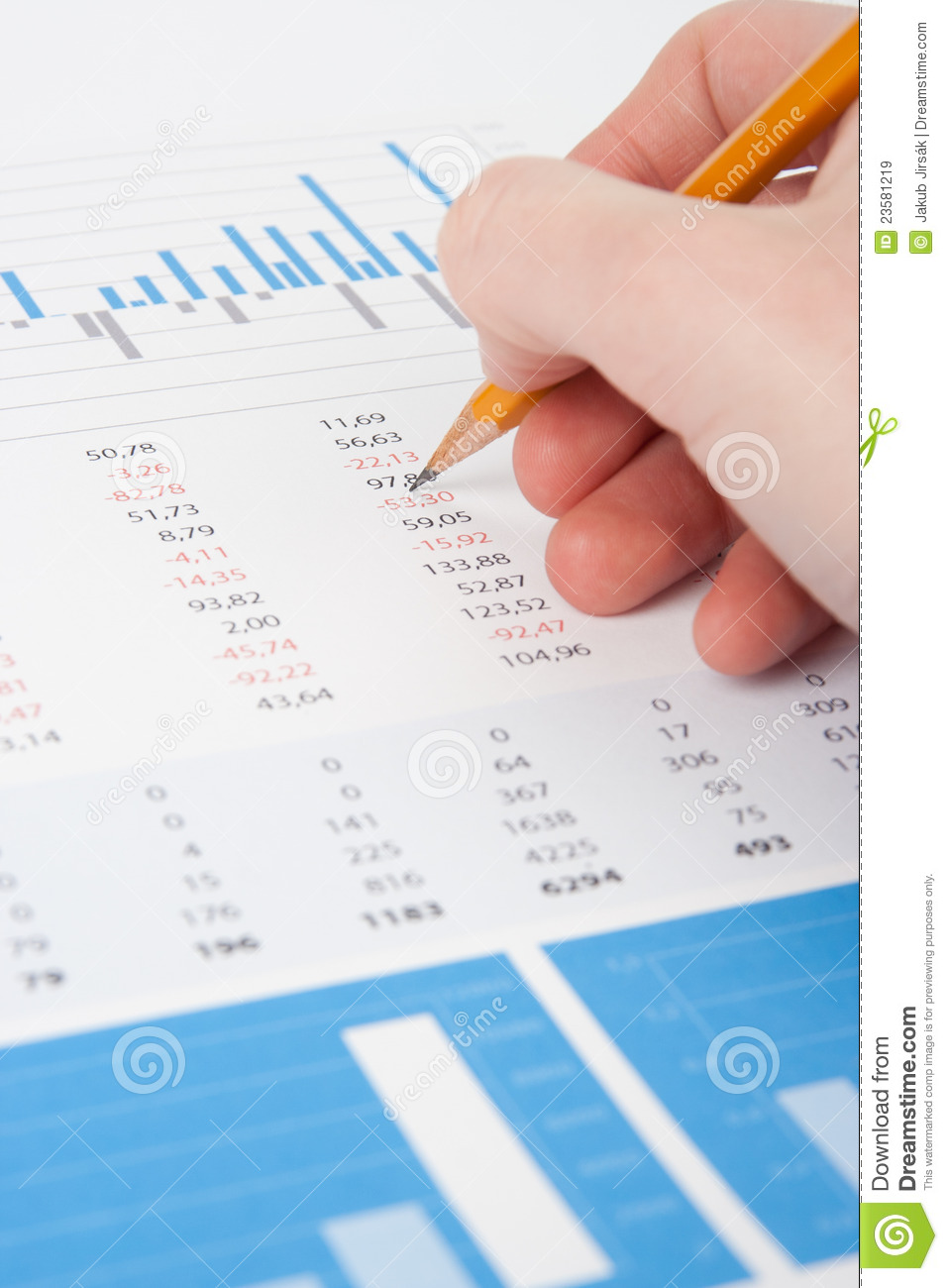 Concept of business analyst - hand with pencil, chart and graphs.: dreamstime.com/royalty-free-stock-images-business-analysis...