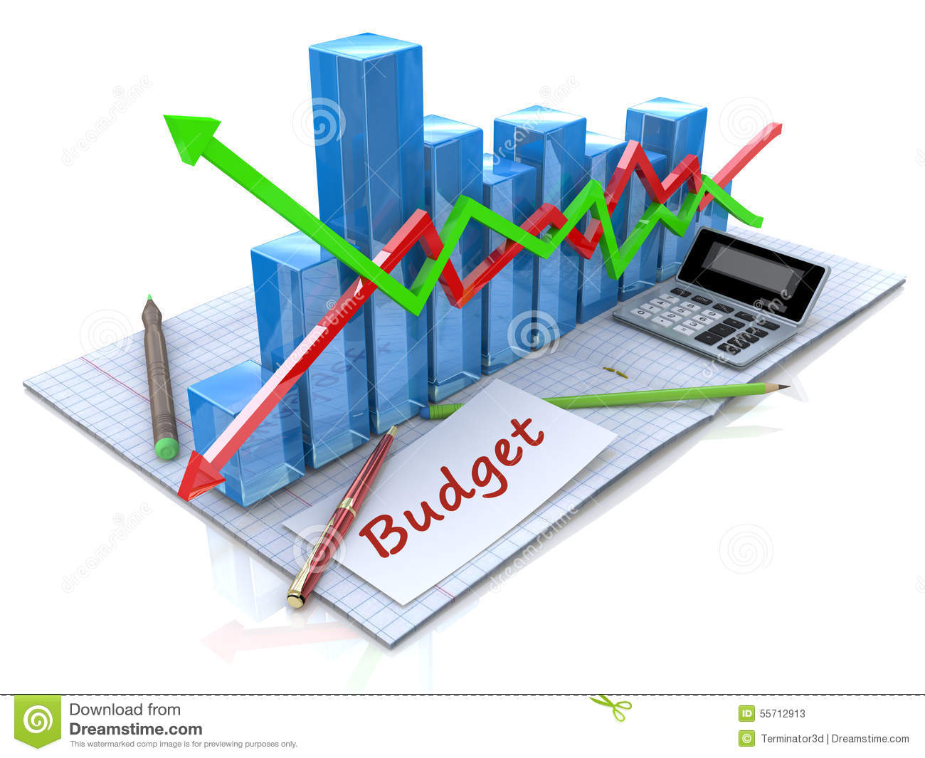 business analysis calculation of the budget stock illustration