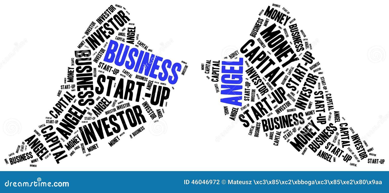business angel or funds gaining concept stock illustration illustration 46046972. Black Bedroom Furniture Sets. Home Design Ideas