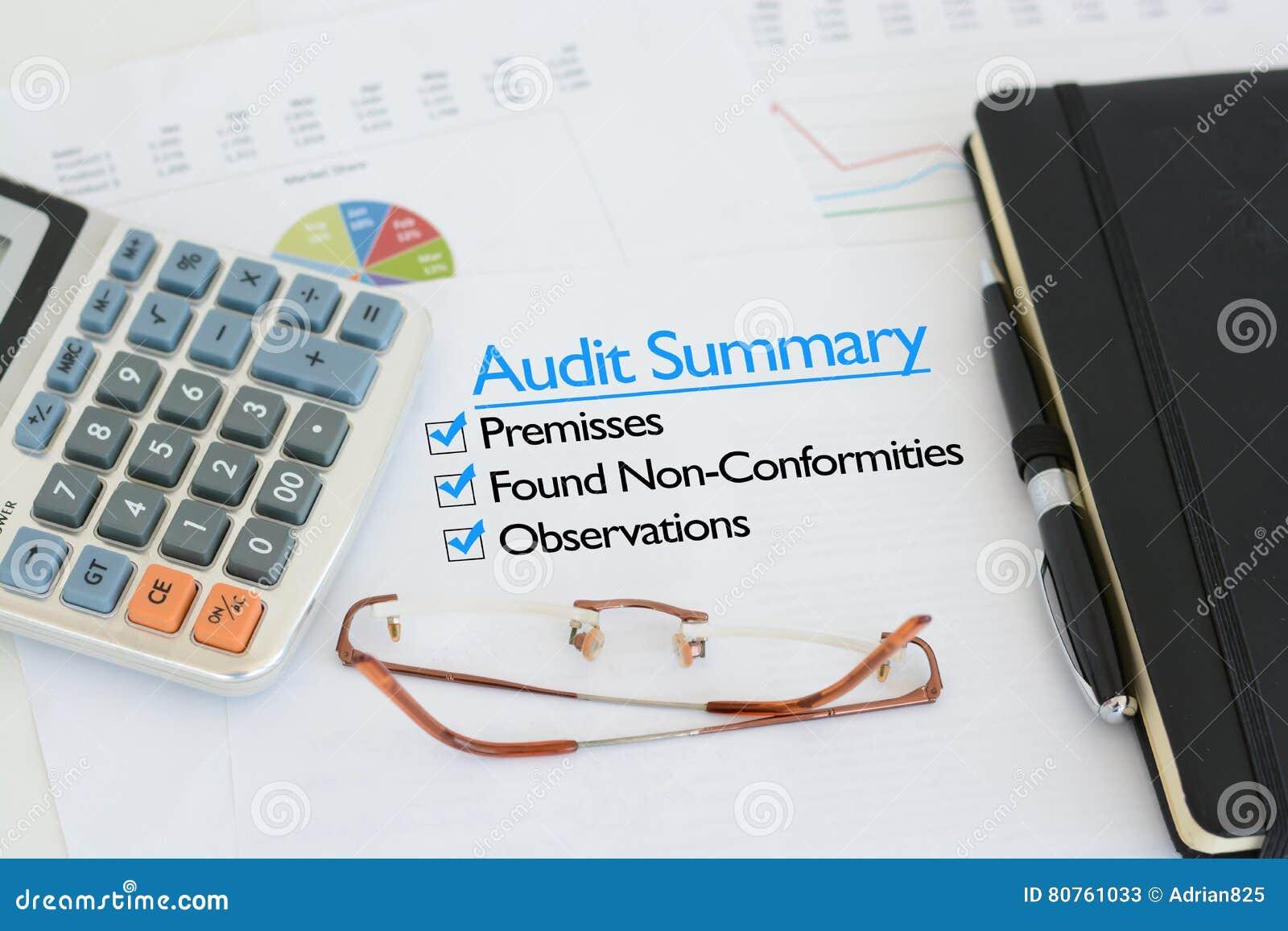 Business audit summary report