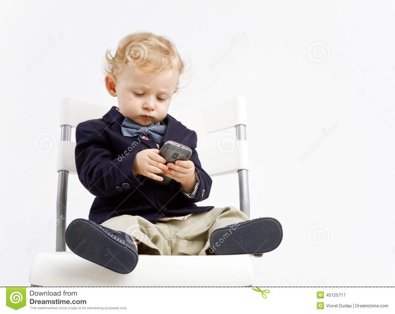 dfdbd5edce76 Business baby with phone stock image. Image of fashionable - 45125717