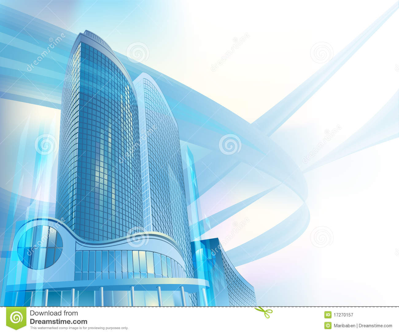 Business Background With Modern City Buildings Royalty
